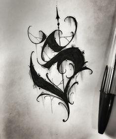 Chicano Tattoos Lettering, Tattoo Lettering Alphabet, Tattoo Lettering Styles, Graffiti Lettering Fonts, Graffiti Alphabet, Graffiti Art, Lettering Design, Acab Tattoo, Dark Tattoo