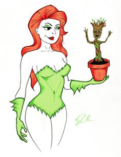 Poison Ivy with Groot