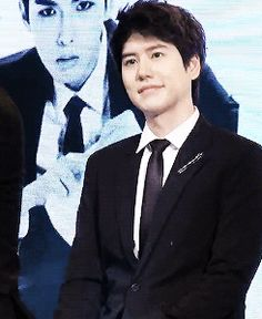 Kyuhyun being cute at a SWING press con.