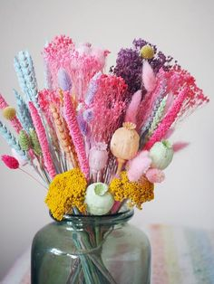 The New Sherbert Macaroon Dried Baked Blossom Bunch – The Happy Blossoms Dried Flower Bouquet, Dried Flowers, Flower Bouquets, Dried Flower Arrangements, Bunch Of Flowers, Colorful Flowers, How To Preserve Flowers, Message Card, Joy And Happiness