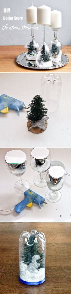 Check out this easy idea on how to make a #DIY #Christmas dioramas from #dollarstore items #homedecor #budget @istandarddesign