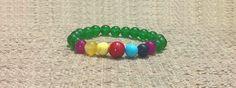 8mm Green Jade Gemstones 7 Chakras Stretch Bracelet, Healing Chakra Protection Meditation Yoga Mala Aries Taurus Gemini Libra Bracelet de ArtGemStones en Etsy