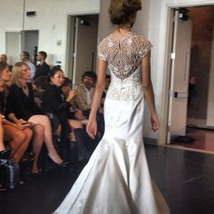 Intricate backs at Rivini. #NYBridalMarket