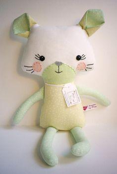 Handmade Kitten softie doll by PoppyandPippin on Etsy, £19.50