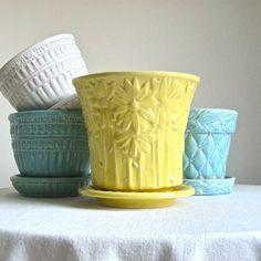 Vintage McCoy Pottery Flower Pots