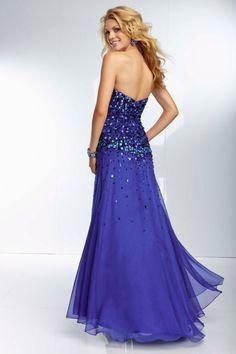 Stunning Prom Dresses Sweetheart Rhinestone Beaded Bodice With Slit