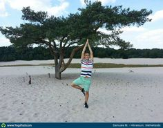 #Yoga Poses Around the World: Tree Pose taken in Hilversum, Netherlands by Samuele M.
