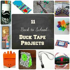11 Back to School Duck Tape Projects