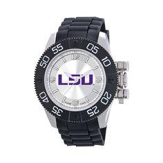 Game Time Beast Series LSU Tigers Stainless Steel Watch - COL-BEA-LSU - Men, Black