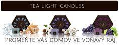 ČAJOVÉ SVÍČKY Tea Light Candles, Tea Lights, Design