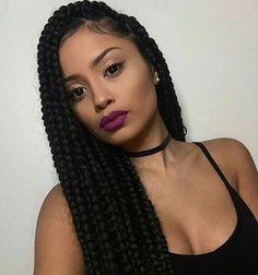 Box braid beauty ❤ @kimdollxo                                                                                                                                                                                 More