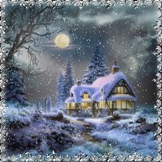 weihnachten gif One Cold amp; Merry Christmas Gif, Christmas Scenes, Magical Christmas, Christmas Villages, Christmas Past, Beautiful Christmas, Winter Christmas, Winter Pictures, Christmas Pictures
