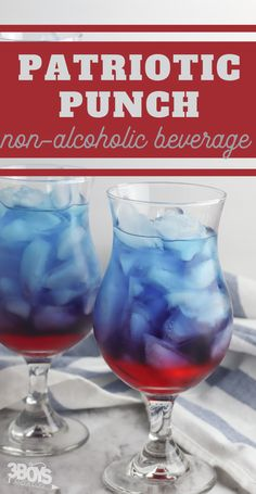 This is the best and most simple Red and Blue Punch Recipe for Kids! All you need are two ingredients to make it! #punchrecipe #4thofJulydrink #drinkforkids #3boysandadog Top Drinks, Blue Drinks, Summer Drinks, Beverages, Lime Sherbet Punch, Blue Punch, Alcoholic Punch, Non Alcoholic Drinks, Limeade Drinks