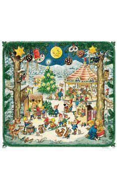 Korsch Festival Elves Advent Calendar (Set of 2)