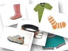 DaZ Material zur Sprachförderung in der Grundschule kostenlos -Bildkarten Kleidung