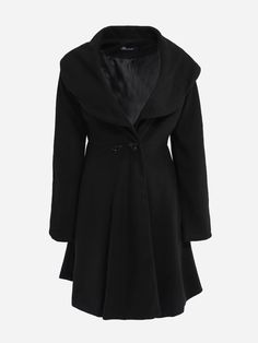 #BerryLook - #berrylook Loose Fitting Lapel Dacron Plain Overcoats - AdoreWe.com