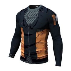 Naruto Long Sleeve Compression Shirt Trying to be Hokage? Grab this moisture wicking Naruto Uzumaki Long Sleeve Compression Shirt today and start grinding! Grab the rest of Naruto's Gear HERE - Wear-Resistant - UV Protection - Breathable - Quick-Dry - Moisture Wicking Fit: Runs Small, Order 2 Sizes up from your US size