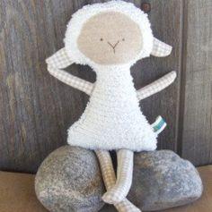 lamb doll.....use black apple rag doll patern
