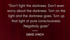 10 mindfulness quotes from David Lynch.