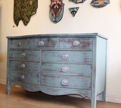 Painted teal furniture