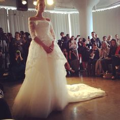 Gorgeous lace peplum #marchesa bridal #bridalfashionweek