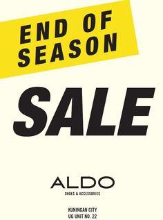 END OF SEASON SALE at ALDO Shoes End Of Season Sale, Aldo Shoes, Company Logo, The Unit, Seasons, Seasons Of The Year
