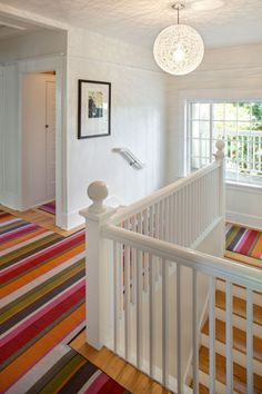 Staircase Staircase With Wall To Wall Carpet Design, Pictures, Remodel, Decor and Ideas - page 6 Carpet Cleaning Business, Deep Carpet Cleaning, How To Clean Carpet, Cleaning Hacks, Striped Carpets, Striped Rug, Decoration Originale, Carpet Stairs, Hall Carpet