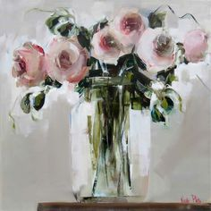 Artwork of Nicole Pletts exhibited at Robertson Art Gallery. Original art of more than 60 top South African Artists - Since Pictures To Paint, Art Pictures, Rose In A Glass, Red Artwork, Abstract Flowers, Abstract Art, Watercolor Artists, Claude Monet, All Art