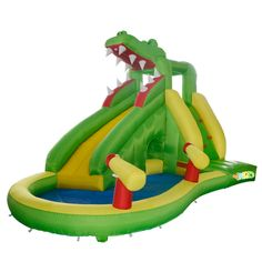 715.00$  Buy here - http://alix55.worldwells.pw/go.php?t=32361137837 - YARD Free Shipping New Arrival Dinosaur Inflatable Water Slide For Kids Outdoor Toys For Happy Summer