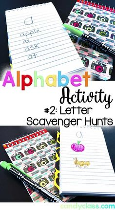 Students do a scavenger hunt for alphabet letters. This is just one of many alphabet activities mentioned. I really like activity #5! These activities are really great for kindergarten or a student struggling in first grade.
