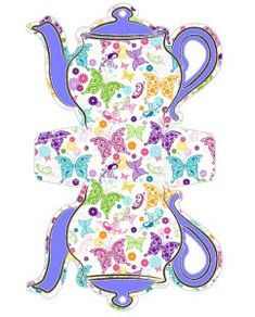 Mold Teapot canister Decorated butterfly