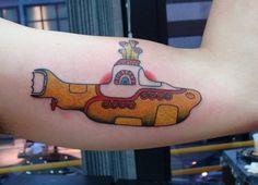 Beatles yellow submarine tattoo