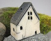 Fired rustic miniature houses