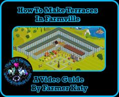 A new and exciting Farmville decorating instructional video from our dear friend and Farmer's Showcase member Farmer Katy. We're very excited to bring you the fourth installment in her weekly series. In the below video, Farmer Katy shows you how to make Terraces on your farm, using fences to create a neat raised effect.  http://www.farmvilledirt.com/2015/01/how-to-make-terraces-in-farmville-video.html