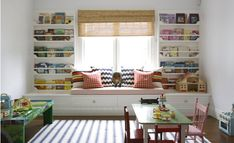 Kid's reading nook and play area