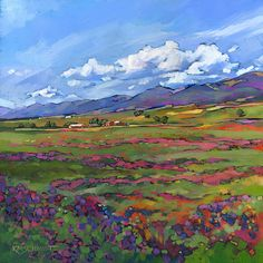 "KMSchmidt Landscape Paintings ""Mountain Lavender"""