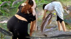 Amazing Fishing Videos by hands-Best Fishing hunte by beautiful girl