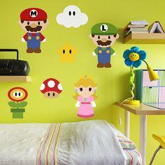 Vinilos Infantiles: Kit Mario Bros #friki #TeleAdhesivo