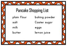 Writing Instructions - Making Pancakes by Polly Puddleduck Making Pancakes, How To Make Pancakes, Teaching Aids, Teaching Writing, Healthy Eating Tips, Healthy Nutrition, Vegetable Drinks, New Recipes, Baking