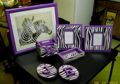 Zebra Print Projects With Purple Accents