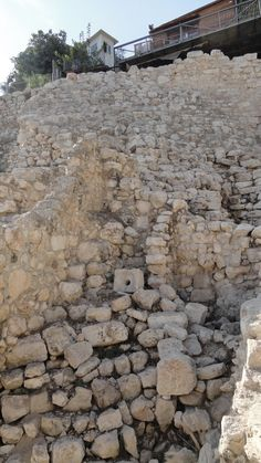 Ruins of King David's Palace, Jerusalem.  Definitely would love to see this in person!!