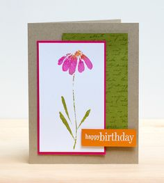 Painted Coneflower by jeanmanis - Cards and Paper Crafts at Splitcoaststampers