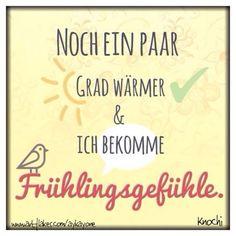 geht euch das auch so... !? Noch ein paar #Grad wärmer ☀️ und ich bekomme #Frühlingsgefühle #wetter #verrückt #warm #sonnig #we❤️it ✌️