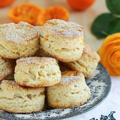Kensington Palace Scones recipe that comes from Bruce Richardson's book, The Great Tea Rooms of Britain. Thirsty For Tea Fragrant Orange English Scones Tea Recipes, Cooking Recipes, Recipies, Fruit Sandwich, English Scones, Onigirazu, Orange Scones, Masterchef, Cream Scones