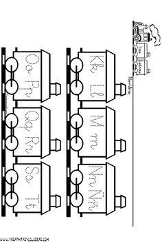 Tren para colorear con 9 vagones - Imagui
