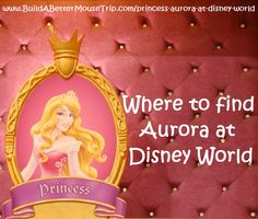 Click this pin for a complete list of all the places to see Aurora, from Disney's Sleeping Beauty, at Walt Disney World Resort; See: http://www.buildabettermousetrip.com/princess-aurora-at-disney-world  #Aurora #SleepingBeauty
