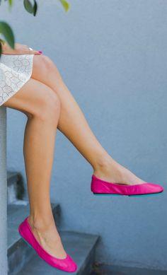 the cutest, comfiest fuchsia pink ballet flats by @Tieks by Gavrieli by Gavrieli by Gavrieli by Gavrieli