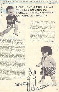 Tricot: modes et travaux 1962 - Le blog de La malle ô trésor de Sylvie
