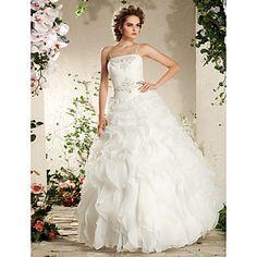 ZIA - Vestido de Novia de Organza – USD $ 599.99