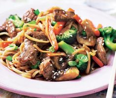 Beef stir-fry Have all your ingredients prepared and close to hand before you start because they will cook quickly... Serves 4...